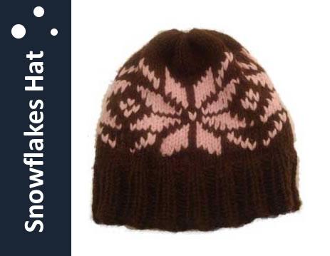 Snowflakes Hat - Loom Knit