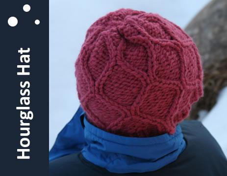 Hourglass Hat Loom Knit