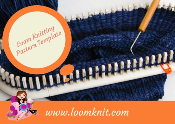 loom knitting pattern template loom knit