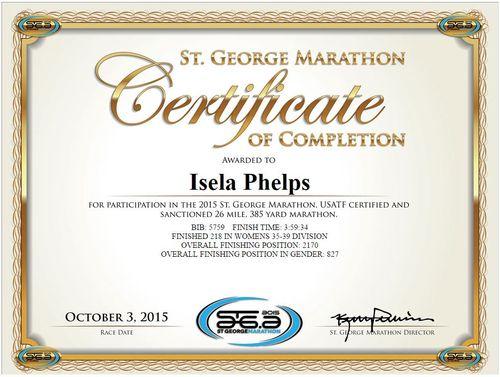 St. George Certificate