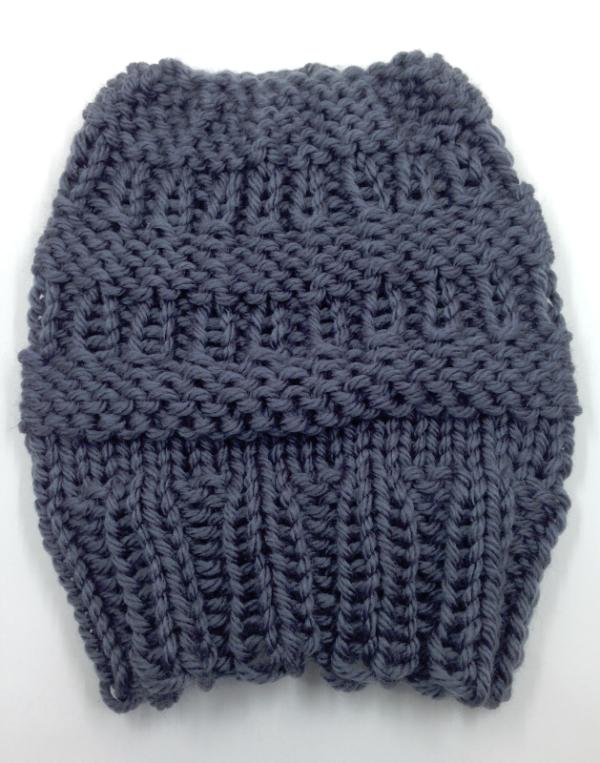 34c27cf167a Messy Bun Hat - Loom Knit